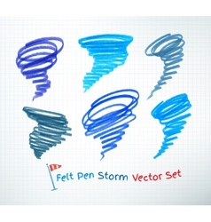 Hurricane symbols vector image