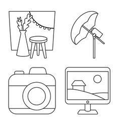 isolated object photography and equipment logo vector image