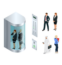 Isometric design of the elevator with vector