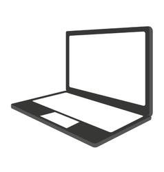 laptop computer portable icon vector image