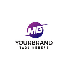letter mg logo design concept template vector image
