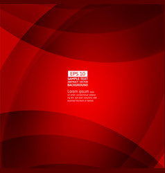 line wave red color abstract background with copy vector image