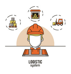 logistic and delivery system infographic vector image