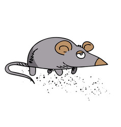 mouse cartoon hand drawn image vector image
