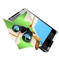 Navigation on smart phone vector