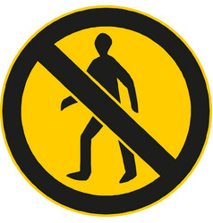 no man sign enter prohibition sign vector image