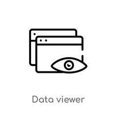 Outline data viewer icon isolated black simple vector