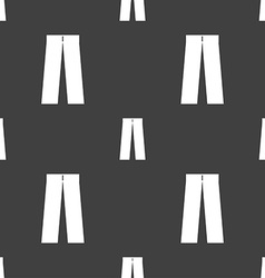 Pants icon sign Seamless pattern on a gray vector image
