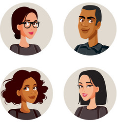 People avatars set collection vector