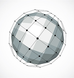 Perspective technology shape with black lines and vector image