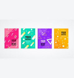 placard poster or flyer template set vector image