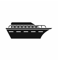 Powerboat icon simple style vector