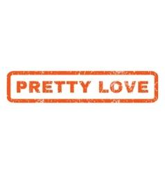 Pretty Love Rubber Stamp vector image