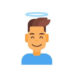 profile icon male emotion avatar man cartoon vector image