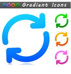 Refresh symbol icon design vector