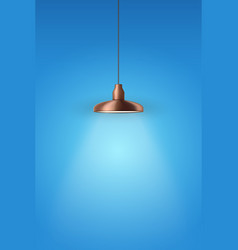 Retro copper stylish pendant ceiling cone lamp vector