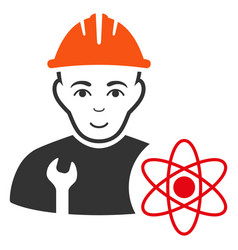 Scientist engineer icon vector
