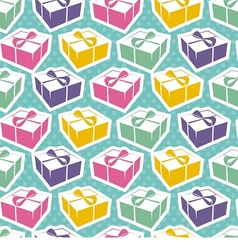 seamless texture with gift boxes for holiday vector image vector image