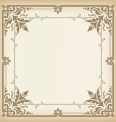 Seamless vintage border vector image