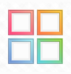 set of colorful square frames vector image