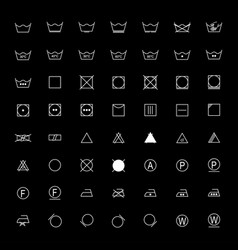 set of white laundry symbols vector image