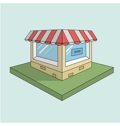 shop flat design 3d vector image