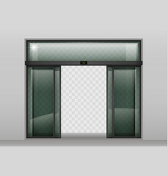 sliding glass automatic doors vector image