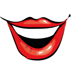 smiling mouth cartoon icon vector image