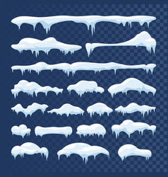 Snow and ice frames winter cartoon snow vector