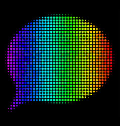 Spectral colored dot hint icon vector
