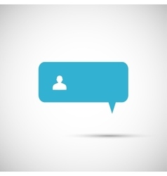 speech bubble on a light background vector image