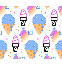 Summer ice-cream seamless pattern vector