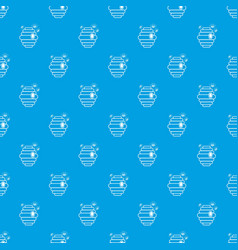 swarm pattern seamless blue vector image