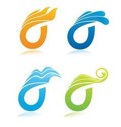 symbols of nature vector image