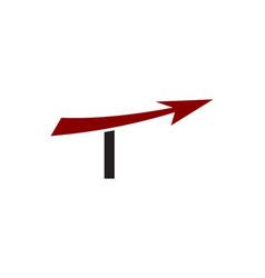 T letter arrow logo vector