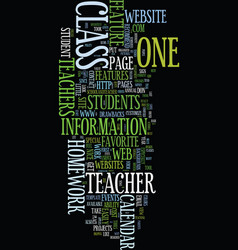 Teacher websites a student s perspective text vector