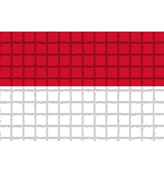 The mosaic flag of Indonesia vector