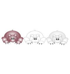 three bears vector image