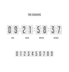 time remaining template vector image