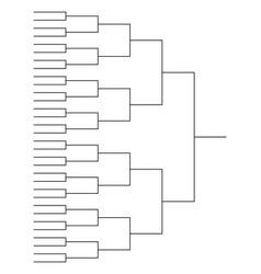 tournament bracket templates vector image