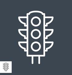traffic light thin line icon vector image