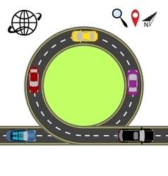 Travel via navigation Abstract highway road vector