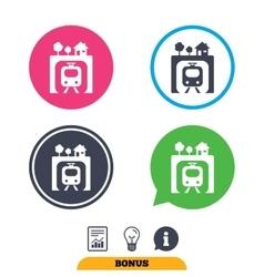 Underground sign icon Metro train symbol vector