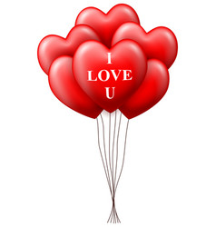 valentines day heart balloons isolated on white b vector image