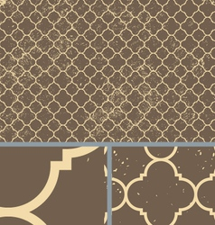 Vintage Brown Worn Seamless Pattern Background vector image