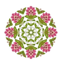 Vintage round flower for design vector image