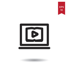 watch video icon vector image