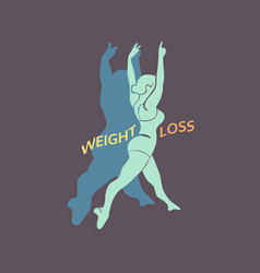 Weight loss icon vector