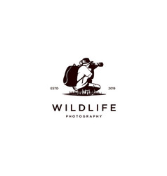 Wildlife photography logo vector