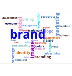 word cloud brand vector image
